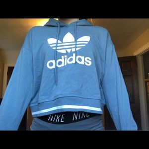 brand new adidas cropped hoodie !